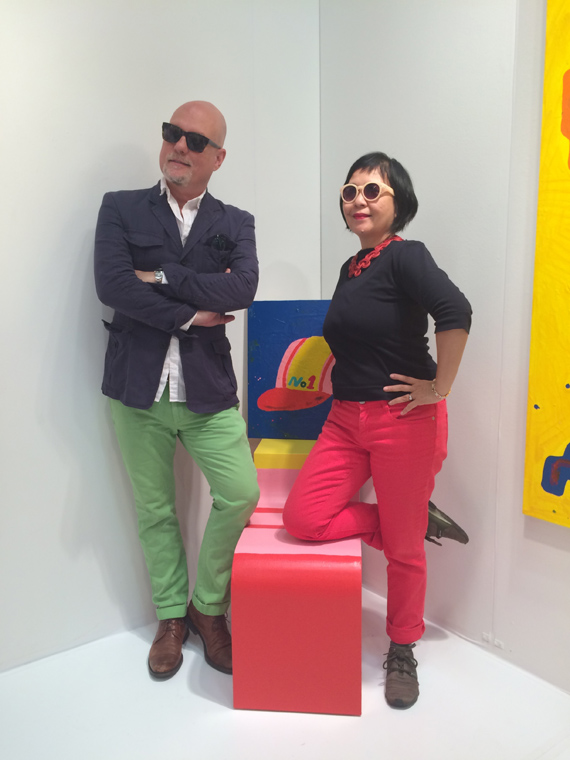 Me & Muna Tseng with Misaki Kawai's sculptural chair