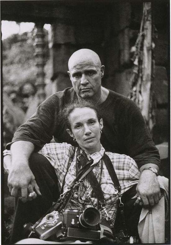 Mark with Brando on the set of Apocalypse Now