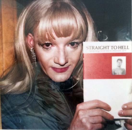 Jackie Curtis at the Pyramid (Straight To Hell) 1985. Photo, Trey Speegle