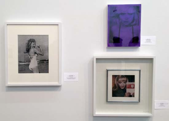 In Good Company; Marilyn Monroe by Andre de Dienes, Debbie Harry by David Croland   and Jackie Curtis by Trey Speegle