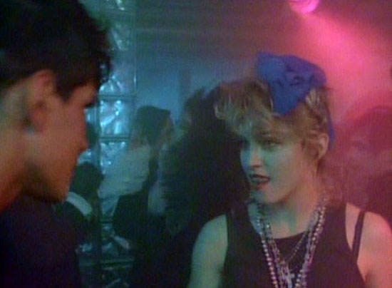 "Madonna in a scene from ""Desperately Seeking Susan"" which was shot at the club"
