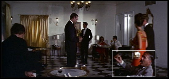 Kevin McClory has a brief cameo in Thunderball when he appears as a guest smoking a cigar as 007 enters the Nassau casino.