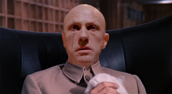 A photoshopped Walz as Bond nemesis, Ernst Stavro Blofeld, as played by Donald Pleasance