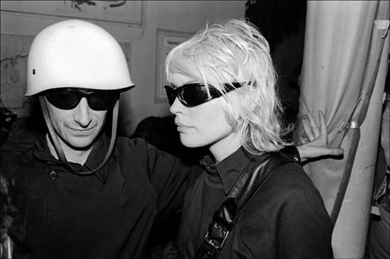 Author Victor Bockris and Debbie Harry at the Mudd Club, June 1979. Photo, Allan Tannenbaum