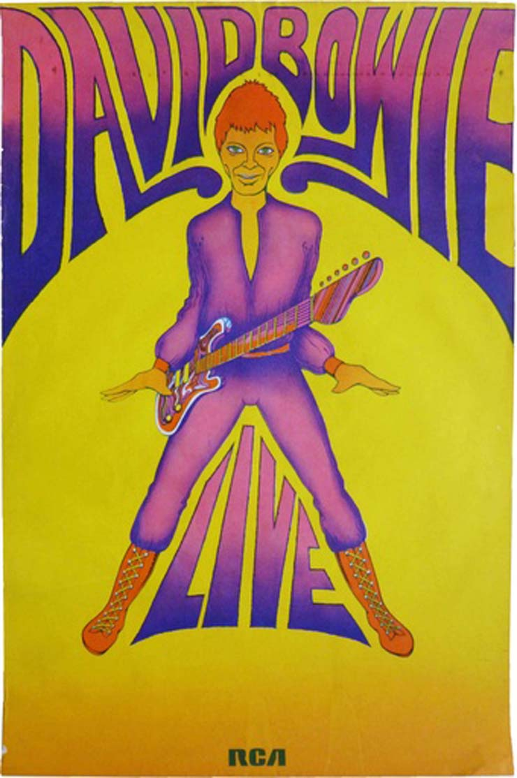 GEORGE UNDERWOOD   David Bowie Tour Poster, 1972, $1100