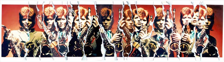 MICK ROCK David Bowie Sax Rip Art, New York, 1999, $5000
