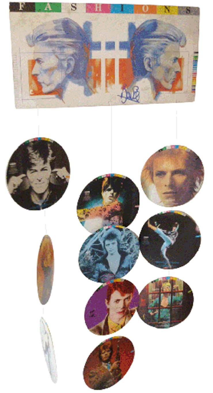 "DAVID BOWIE Rare ""Fashions"" Mobile Display, 1982, $300"