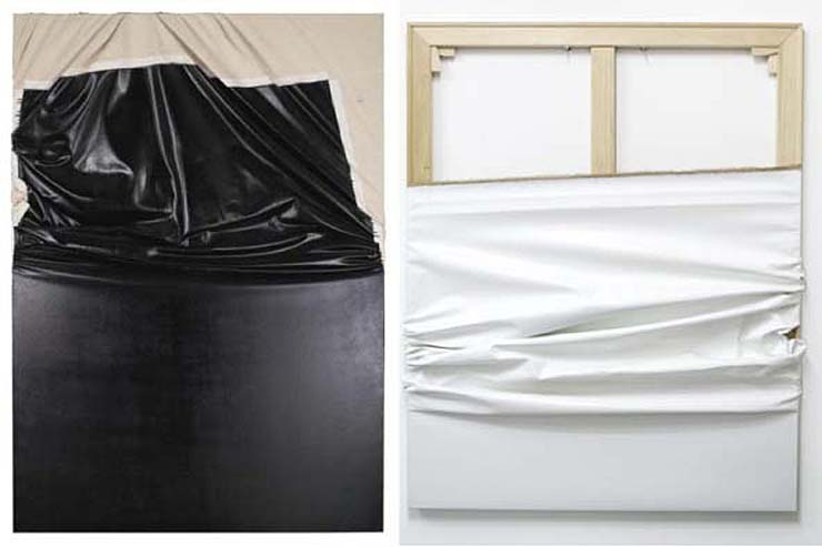 Steven Parrino, left; Jwan Yosef, right