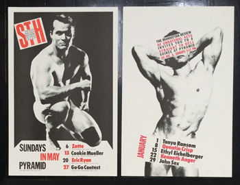 Ethyl featured on posters designed by Trey Speegle, along with Cookie Mueller, Keith Haring and Quentin Crisp