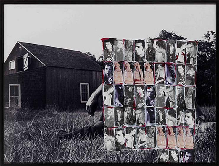 "Richard Prince, ""Untitled (Covering Pollock),"" 2010 incorporated images of the Sex Pistols."