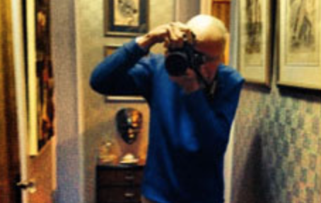 I took this photo of Bill taking a photo of me at Robert Bryan's apartment on New Year's Day, 2014