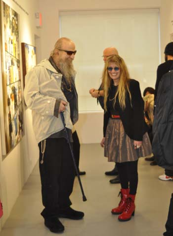 Billy with photographer, Marcia Resnick at the  Thank You Andy Warhol  opening in 2013