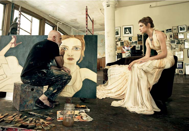 Francesco Clemente by Leibovitz