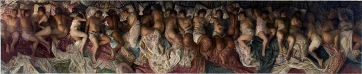 "Artist Vincent Desiderio's 2008 painting ""Sleep"""
