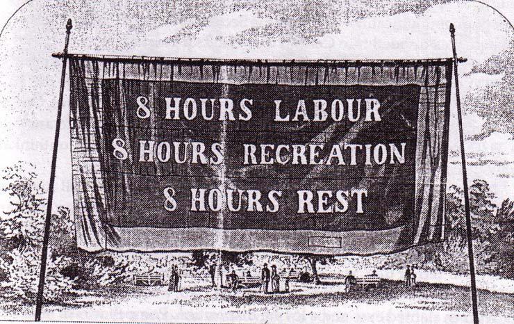 Australian Labor Day banner, 1851