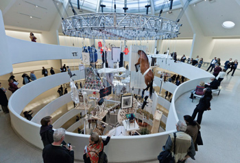 "Cattelan's retrospective, ""All"" at the Guggenheim in 2012"