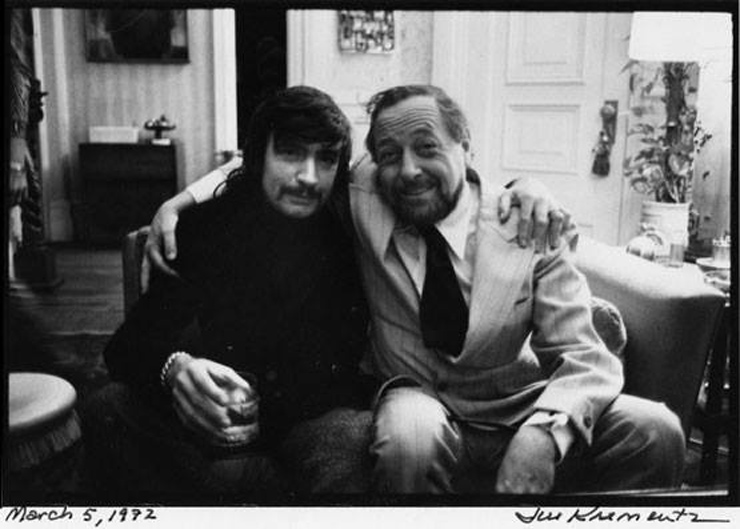 Albee with Tennessee Williams in 1972; Photo, Jill Krementz