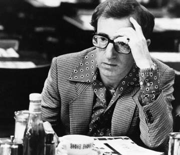 "Woody Allen in the Carnegie Deli in  ""  Broadway Danny Rose"""