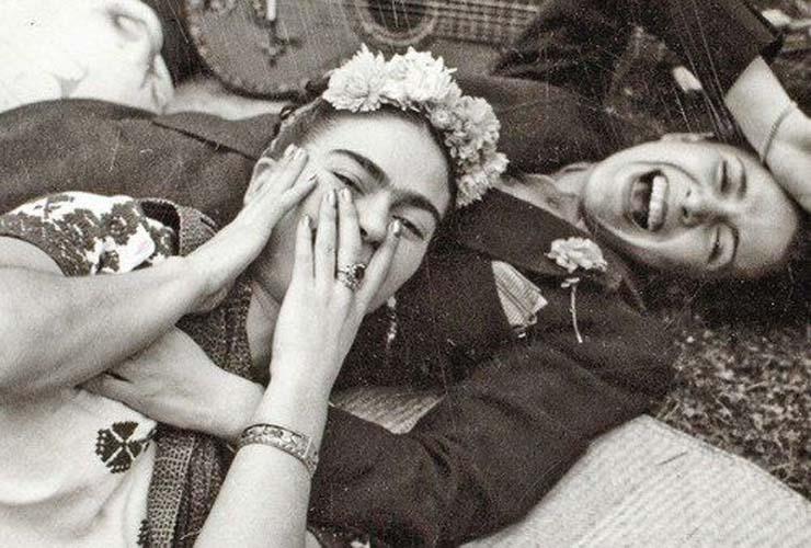 Frida Kahlo & Tina Modotti by Tina Modotti