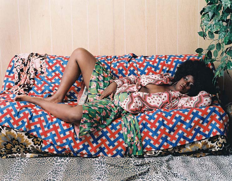 Mickalene Thomas self-portrait