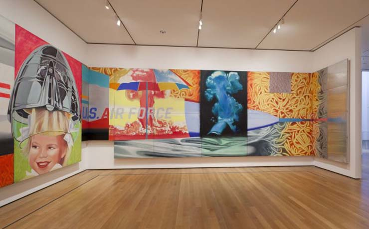 "A section of Rosenquist's ""F111"" at MoMA"