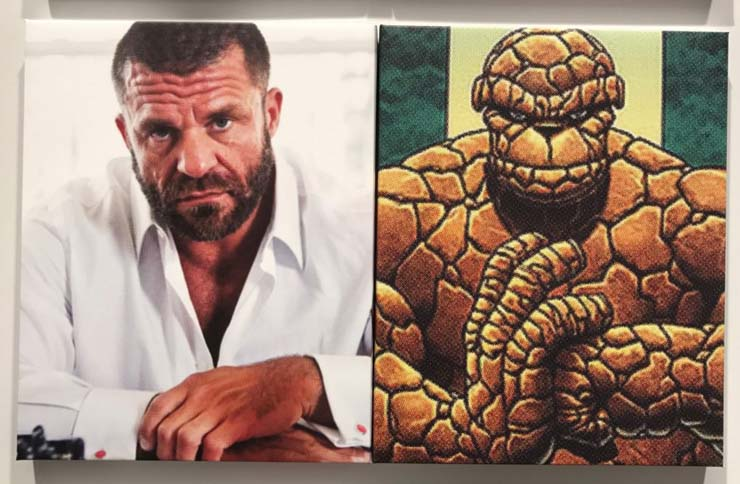Artist Bjarne Melgaard and the Thing from the Fantastic Four