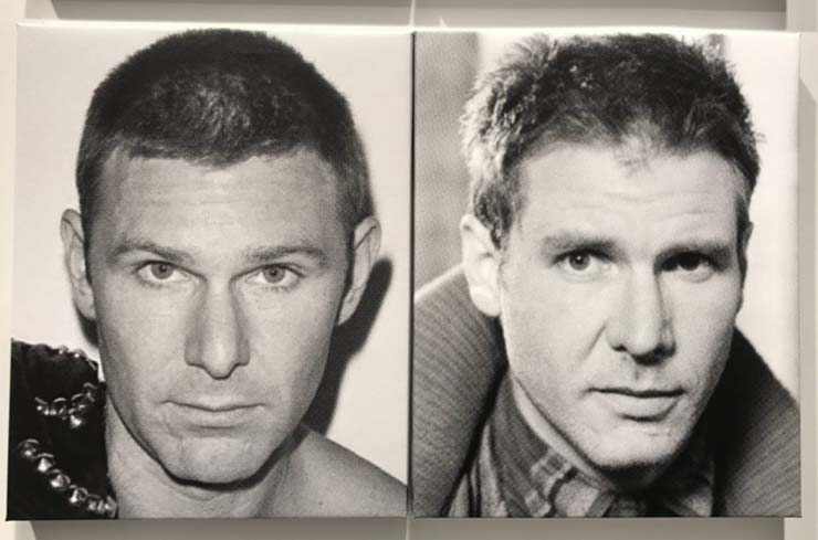 Artist Dan Colen and actor Harrison Ford
