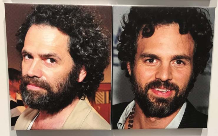 Art dealer Gavin Brown and actor Mark Ruffalo