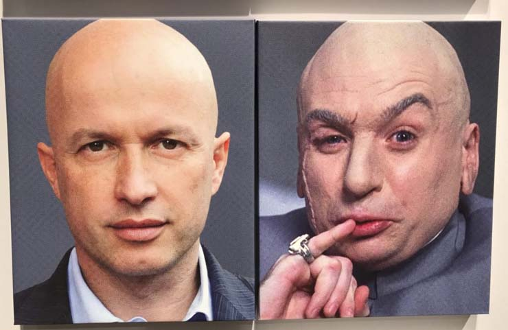 The Fondation Beyeler's Thomas Keller and Mike Myers as Dr. Evil
