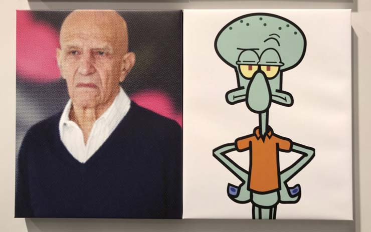 Artist Alex Katz and Krusty Krab proprietor Squidward Tentacles