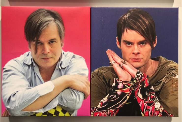 "Artist Rob Pruitt and Bill Hader as ""Saturday Night Live""'s Stefon"