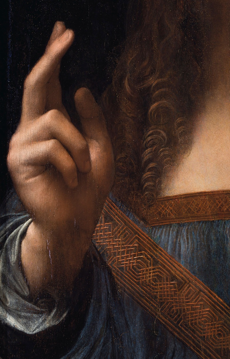 """Both of Christ's hands, the exquisitely rendered curls of his hair, the orb, and much of his drapery are in fact remarkably well preserved and close to their original state"" –Christie's"