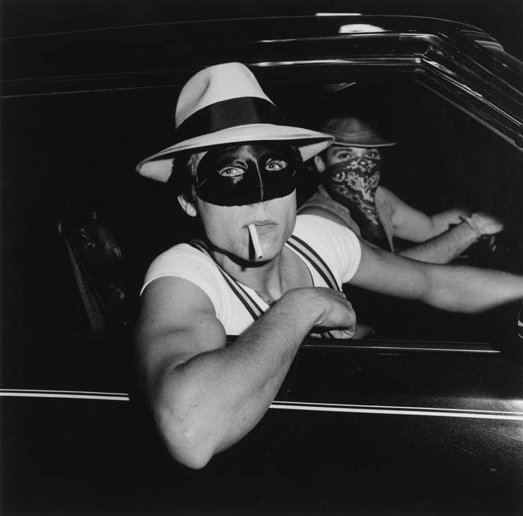 Peter Hujar, Boys in car, Halloween, 1978