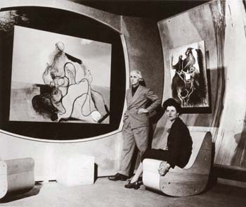 Max Ernst and Peggy Guggenheim at Art of This Century Gallery, 30 W. 57th St. NYC
