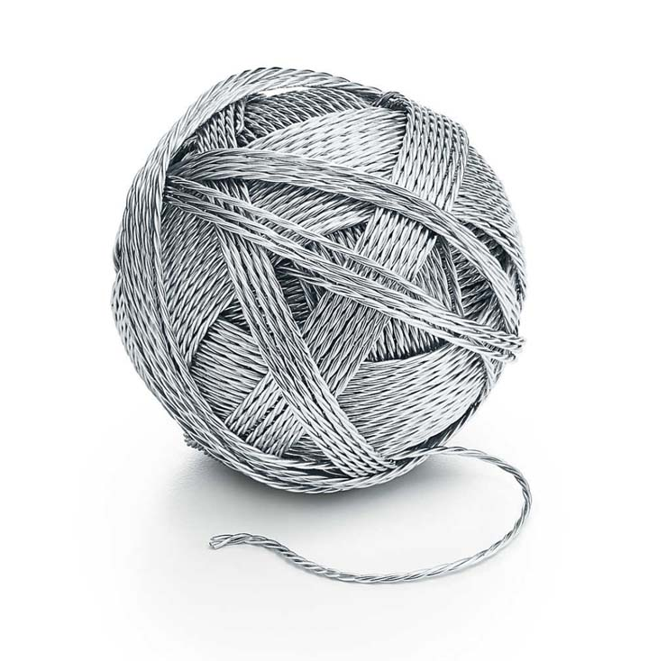 Sterling Silver Ball of Yarn, $9,000