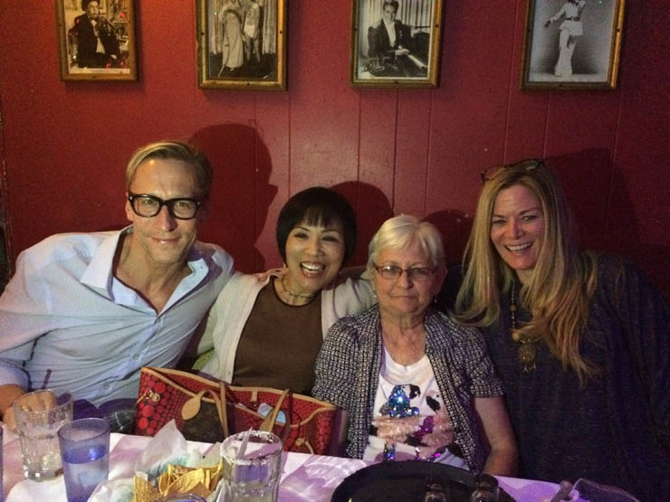 Marc, Kachin and Patti with Mom on her 75th.
