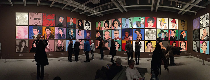 Warhol portraits installation, From A to B and Back Again