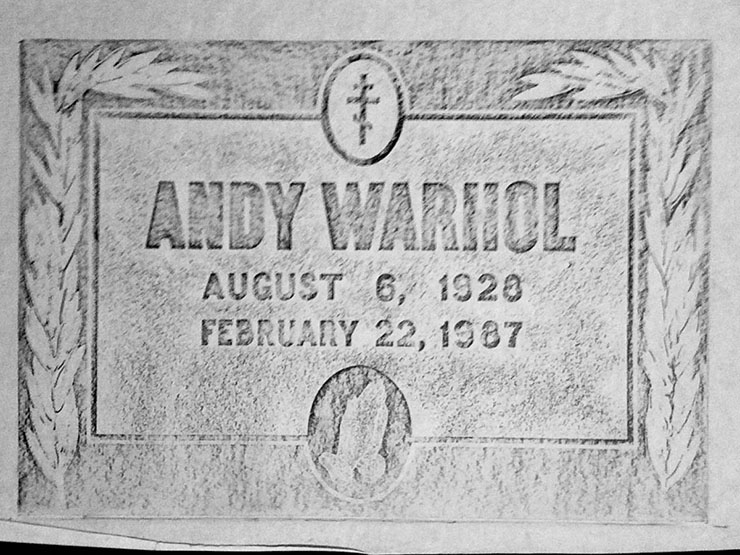 Warhol's gravestone rubbing, Trey Speegle
