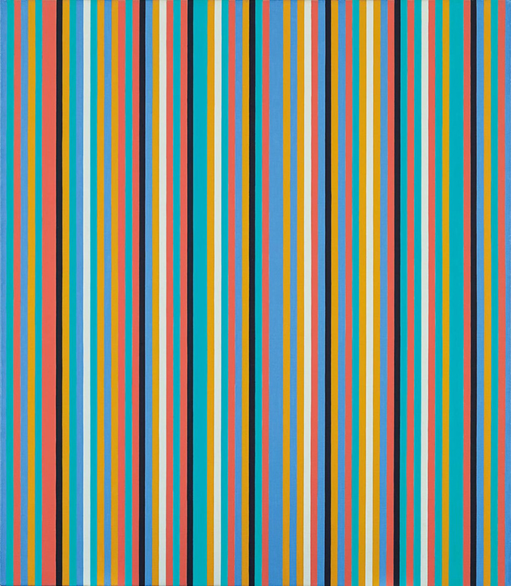 Bridget Riley, Songbird, 1982. Oil on linen. 42 x 36 in