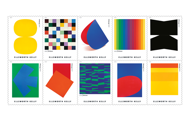 Ellsworth Kelly's work reduces perfectly to stamp size