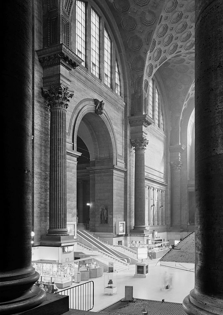 he 8th Ave entry hall of the demolished Pennsylvania Station. RIP, 1920-1963