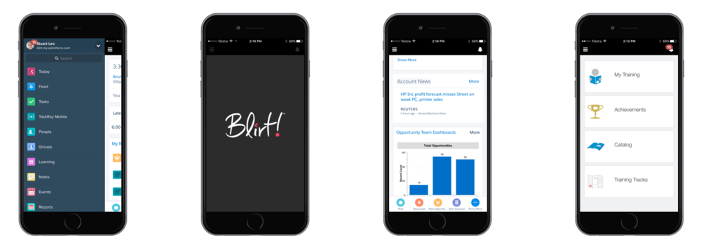 Salesforce CRM provides an adaptable and customisable mobile experience via Salesforce1