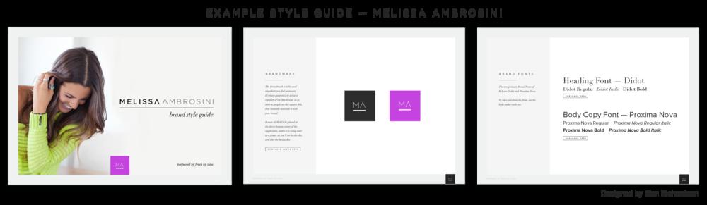 Melissa Ambrosini Style Guide Example | freshbysian.com