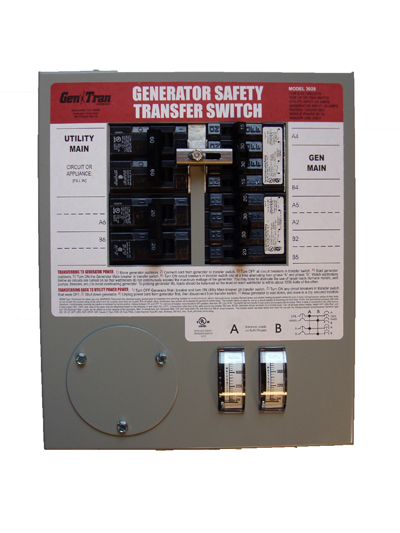 Need a safe way to run your generator in a loss of power? Milestone Electric can install a 6-10 circuit transfer switch, max  running watts on generator 7500x  in around 3 hours! call or email for details