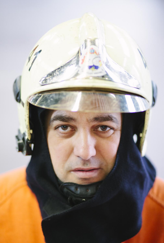 José Suarez, Fireman for Le Ligueur Magazine, 2014