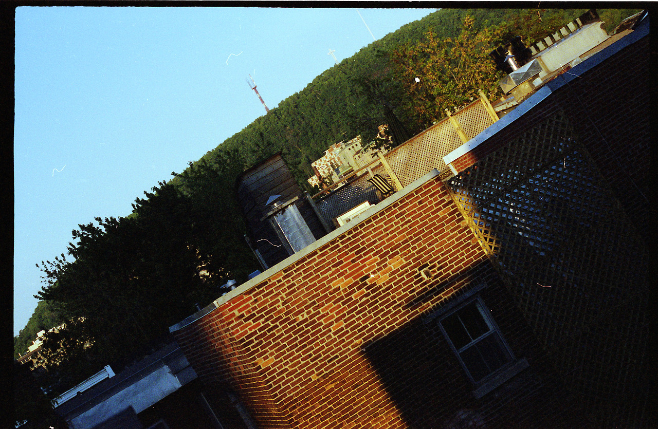 Another Montreal oldie - View to Mount Royal, 2002  (probably Nikon FM10)