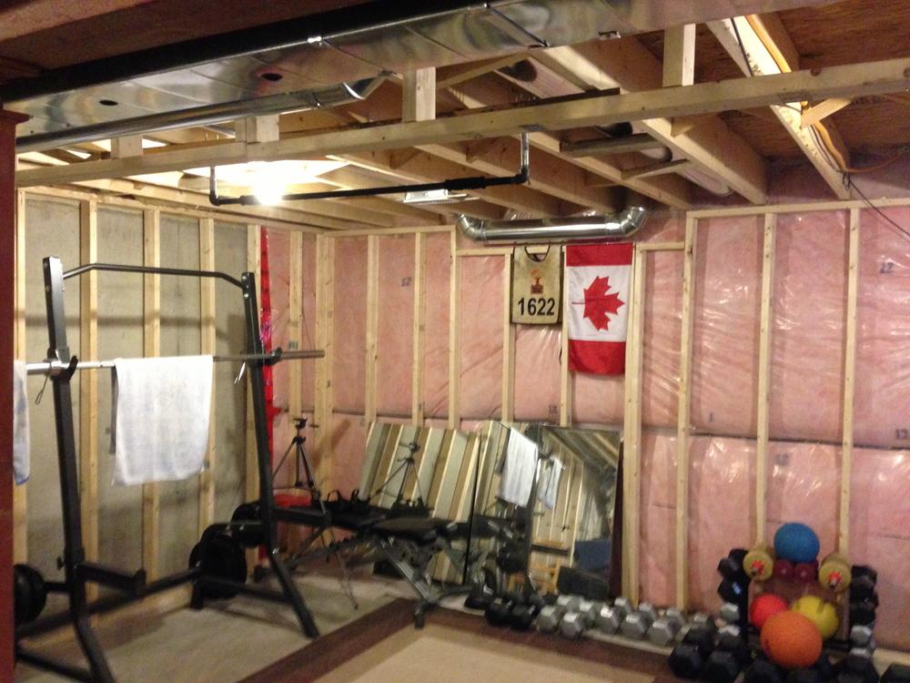 My new home gym still under construction — tyler