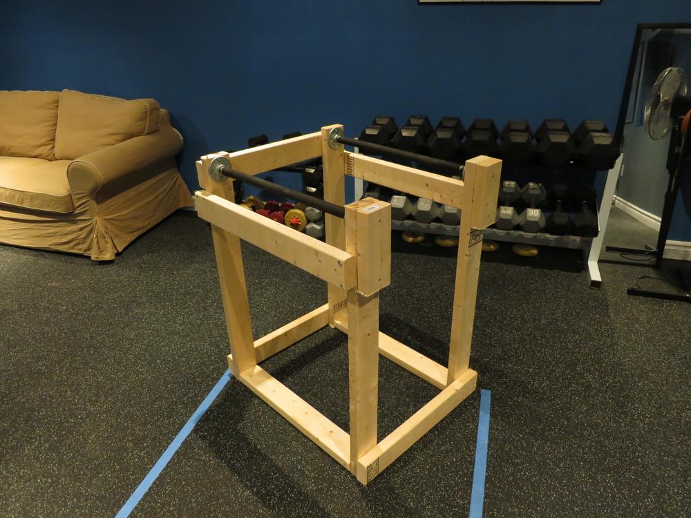 Homemade dip station tyler robbins fitness for Homemade weight rack plans