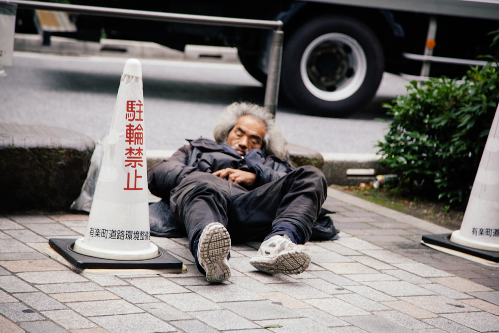 2 of 2 - Tokyo's only other homeless man