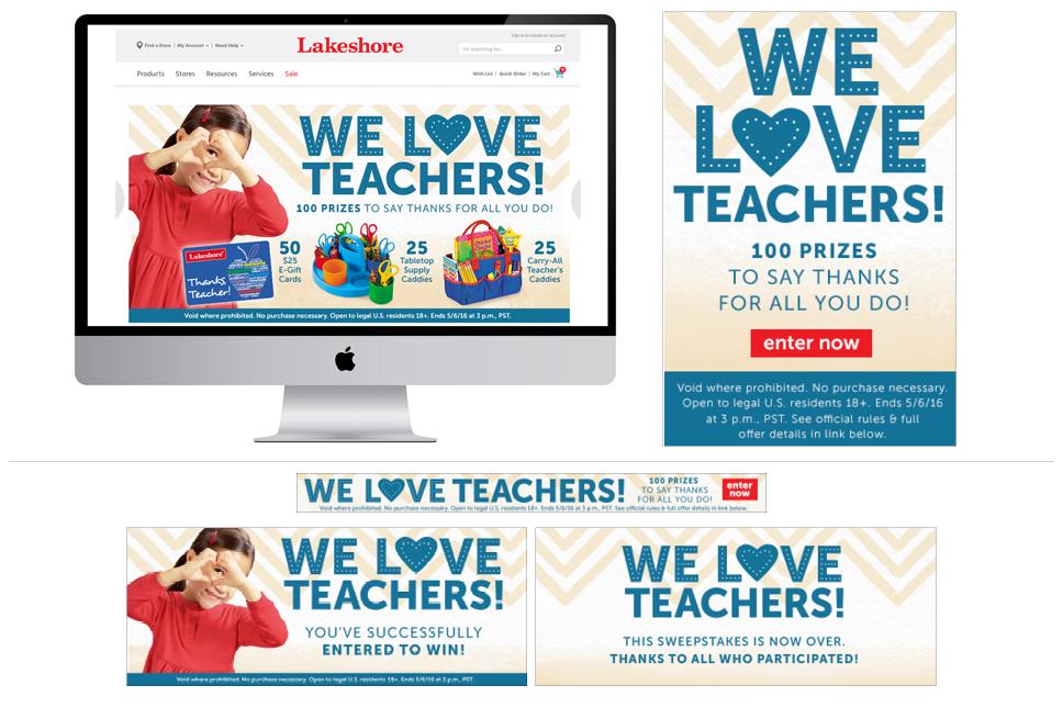 We Love Teachers Sweeps
